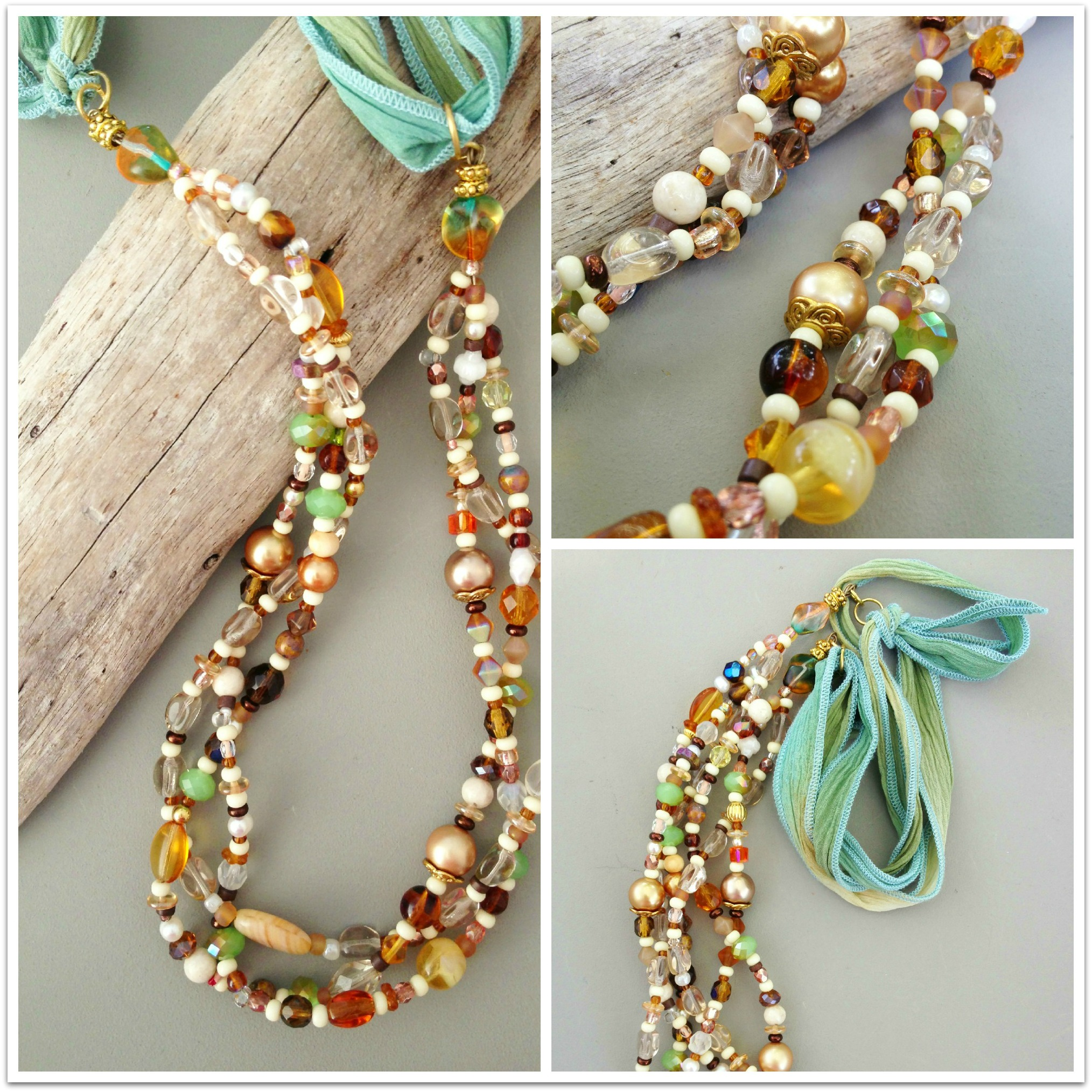 Sand and sea necklace collage DS