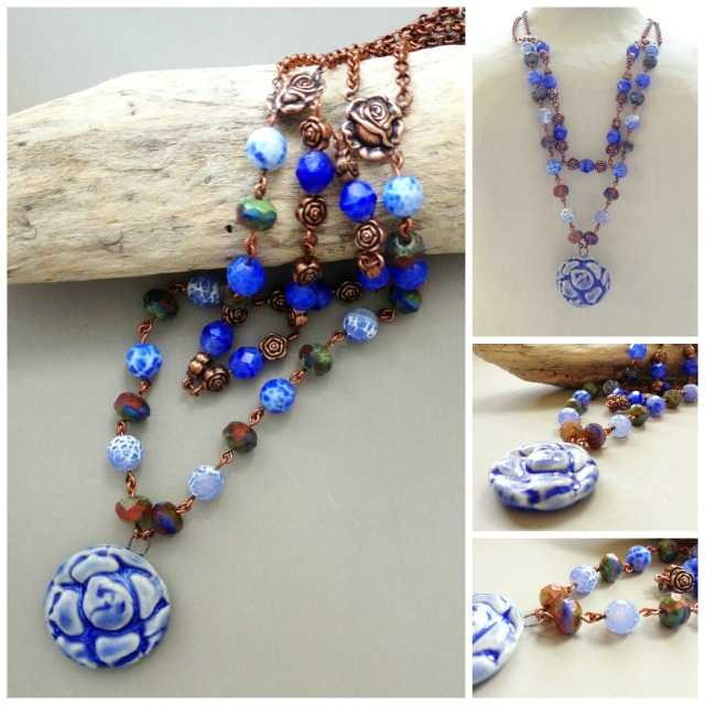 AJE blue orchid necklace Collage
