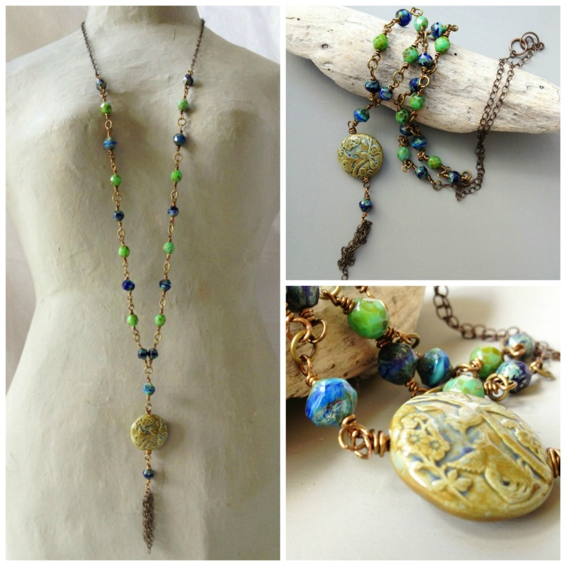 giveaway necklace collage