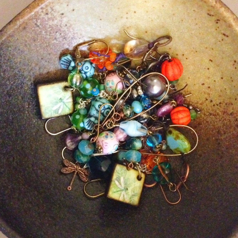 Bowl of earrings