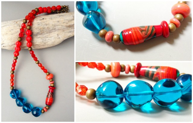 the red and the blue necklace
