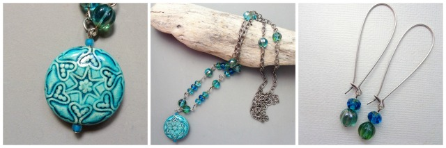 turquoise heart collage