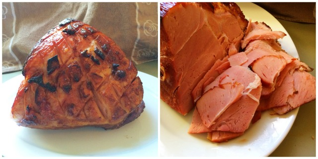 Christmas Ham Collage