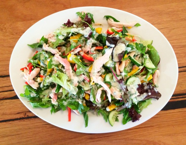 Smoked chicken and mango salad