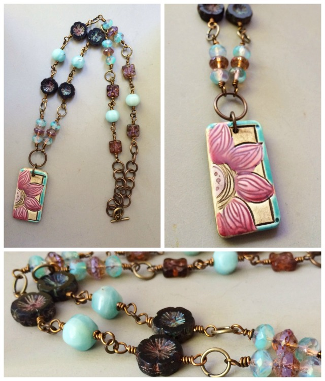 Flower power necklace collage