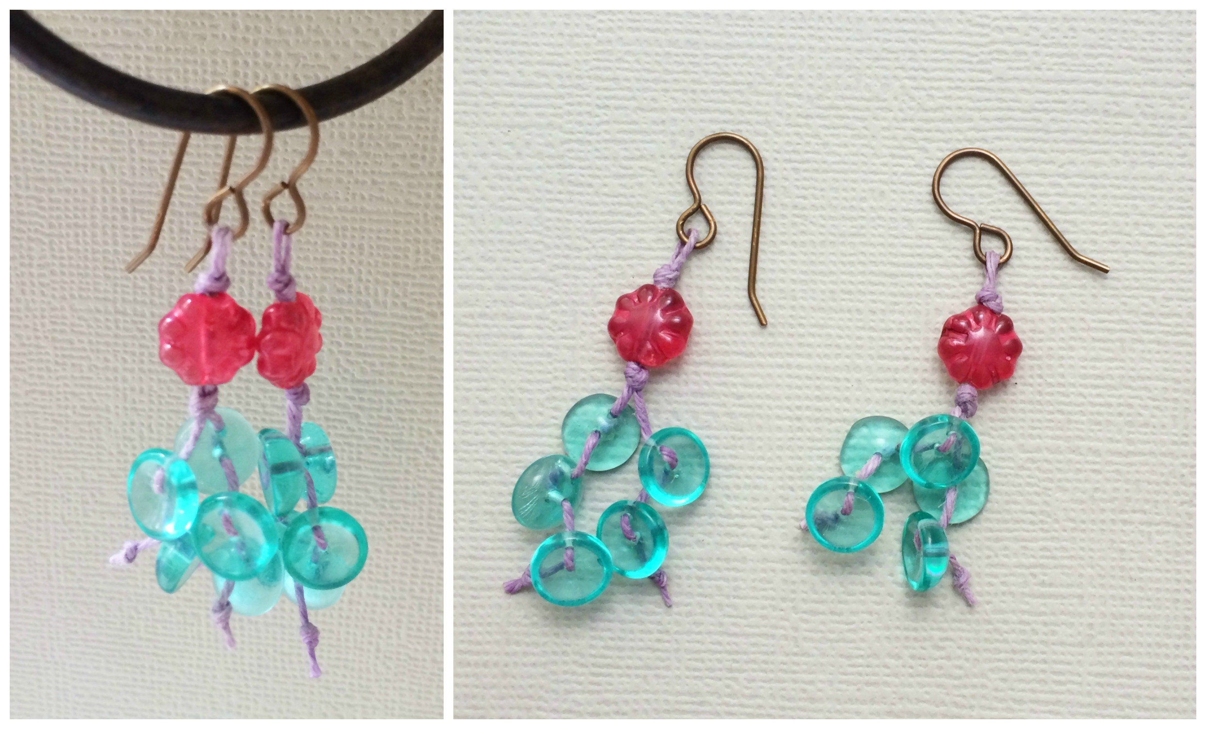 Paintbox earrings Collage