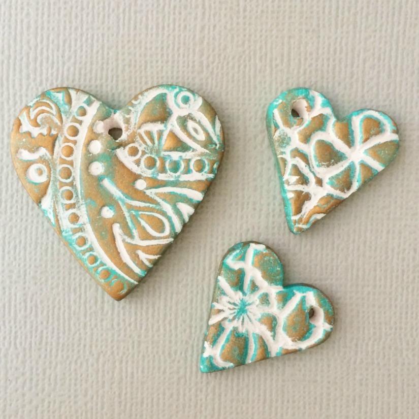 patina hearts