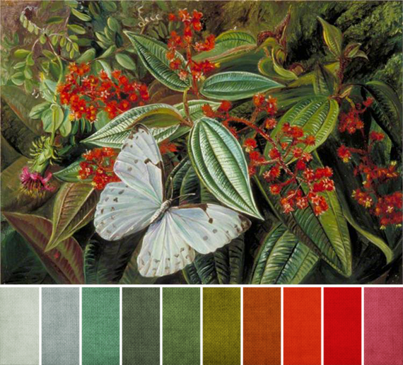 june 2014 - Marianne North - Trees Laden with Parasites and Epiphytes in a Brazilian Garden