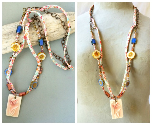 Liberty floral necklace