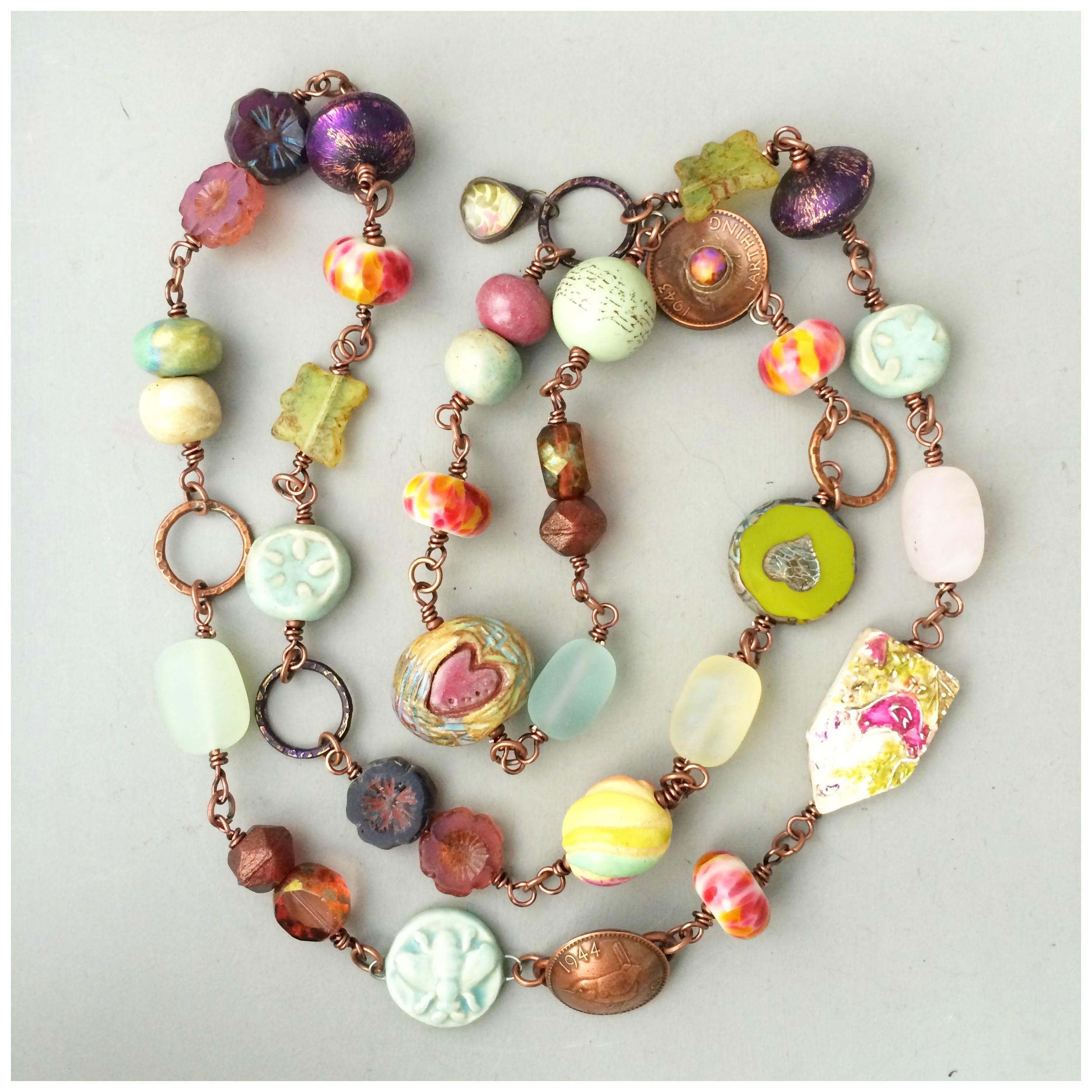 Bowerbird necklace
