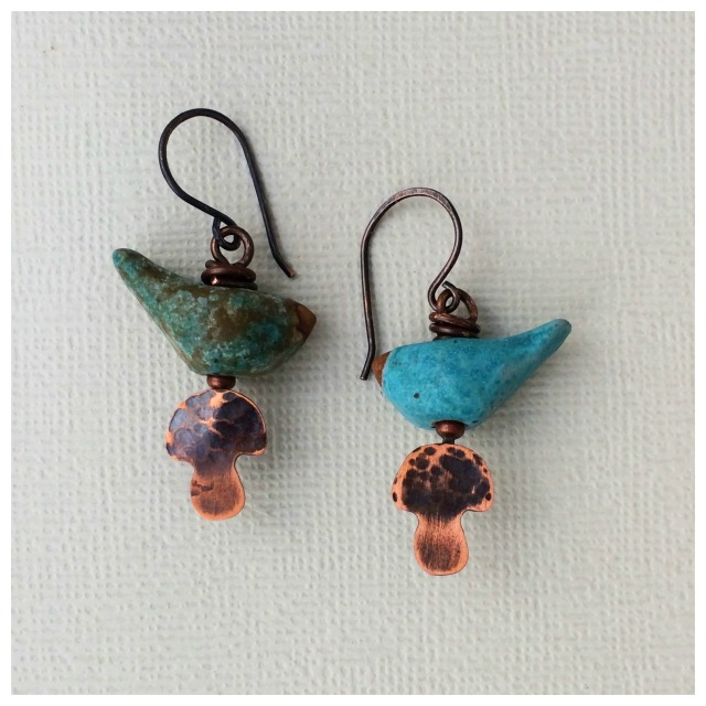 Shroombirds earrings
